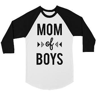 Mom Of Boys Womens Baseball Tee