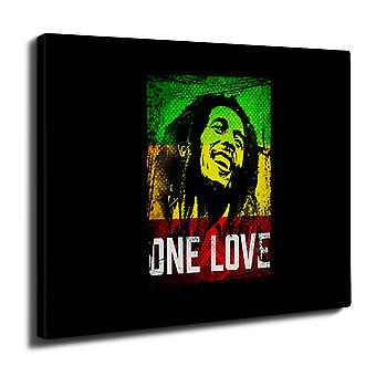 Marley One Love Pot Wall Art Canvas 40cm x 30cm | Wellcoda