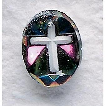 Cruz colgante de cristal de Aurora Boreal