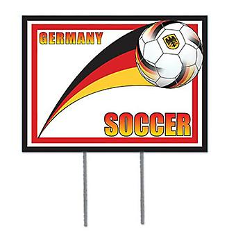 Tyskland fotboll trädgård tecken