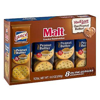 Lance mout Sandwich Crackers met pindakaas