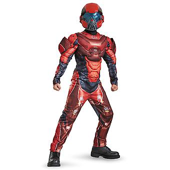 Red Spartan Classic Muscle Halo Military Science Video Game Boys Costume