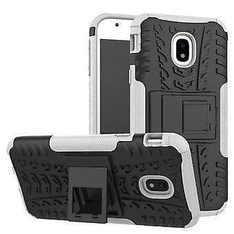 Hybrid Case 2teilig Outdoor Weiß Tasche Hülle für Samsung Galaxy J7 J730F 2017