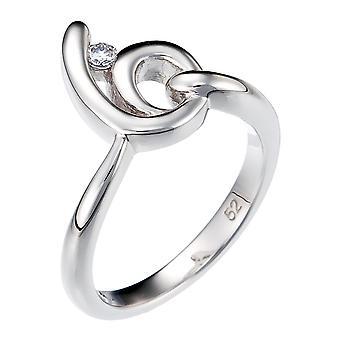 Orphelia srebro 925 pierścień krzywej cyrkonu ZR-3723