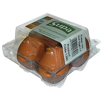 Supa Rubber Hen Nest Eggs (Pack Of 4)