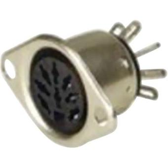 Hirschmann MAB 5 S DIN connector Sleeve socket, straight pins Number of pins: 5 Silver 1 pc(s)