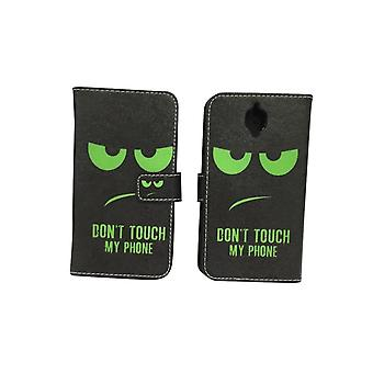 Cell phone cover case voor mobiele OnePlus 3 / drie raak niet mijn telefoon groen