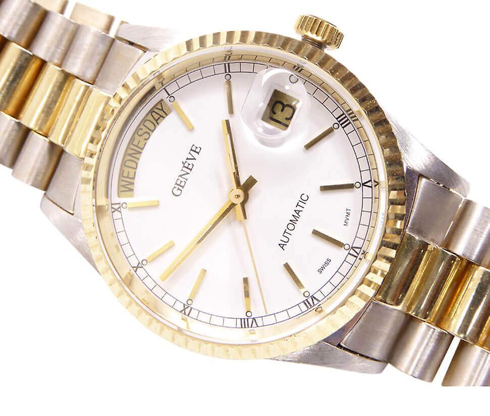 14 k bicolor Geneva Watch