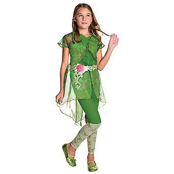 Poison ivy DC super hero girls Deluxe costume for children kids costume original