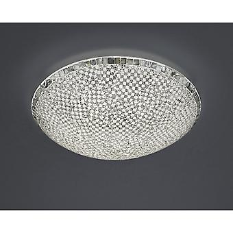 Trio Lighting Mosaique Modern Silver Crackle Glass Large Ceiling Lamp