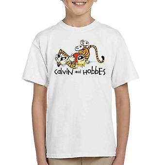 Must Read Book Covers Calvin And Hobbes Laughing Kid's T-Shirt