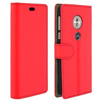 Flip-Brieftasche Fall, schlanke Hülle Motorola Moto G6 Play/Moto E5, Silikon-Hülle - rot