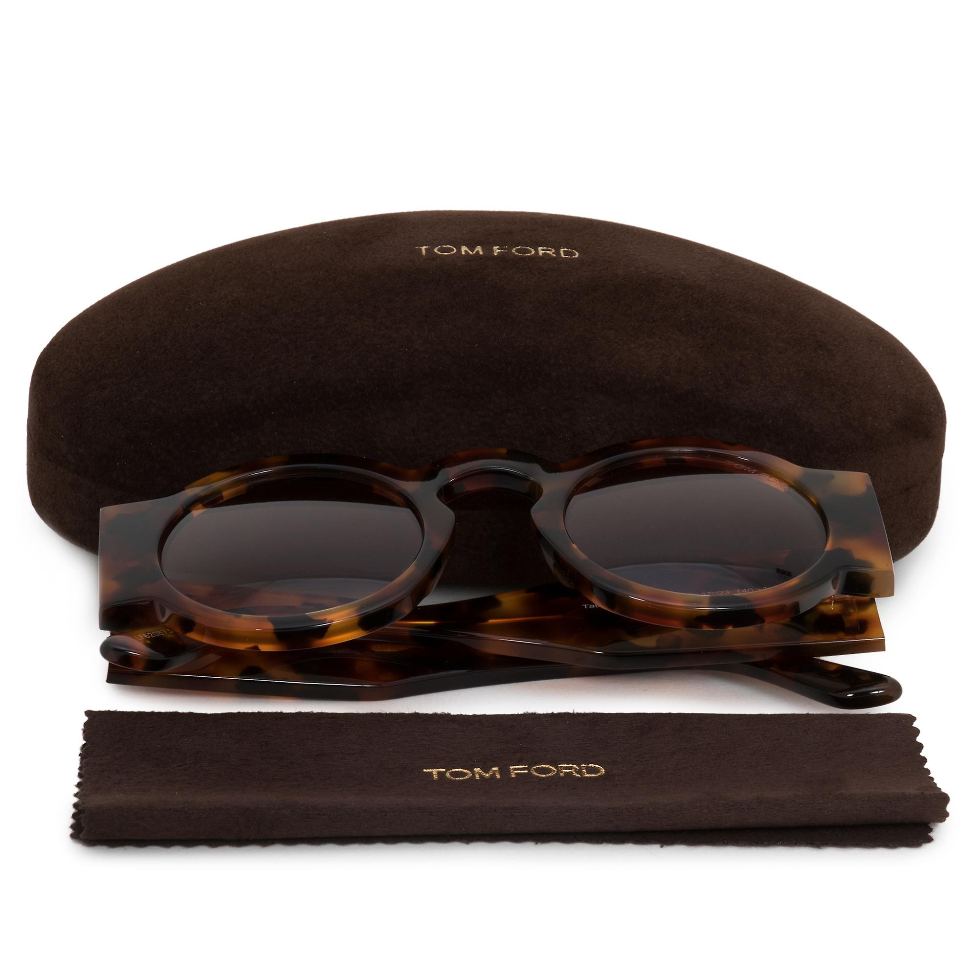 Tom Ford Tatiana Round solbriller FT0603 55E 47 | Havana ramme | Brun linser