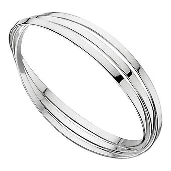 Elements Silver Triple Russian Wedding Bangle - Silver