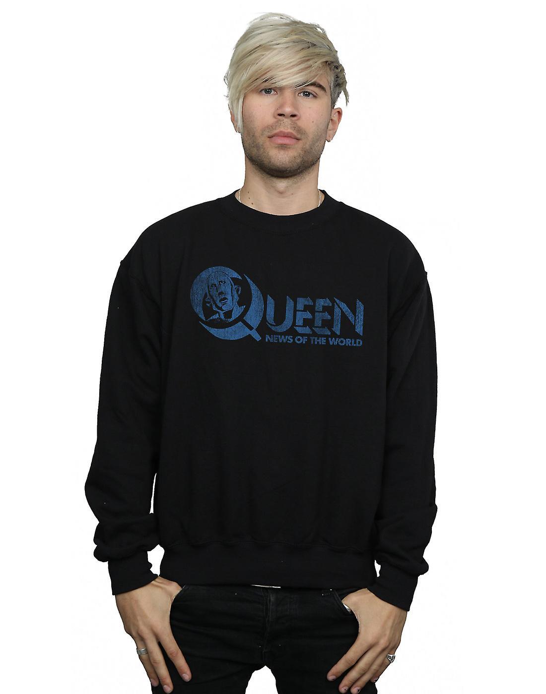 Queen Men's Distressed News Of The World Sweatshirt