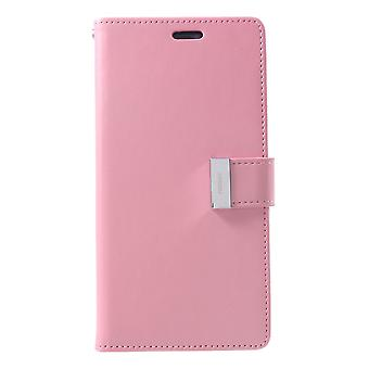 Mercury GOOSPERY Rich Diary for iPhone XS Max-Pink