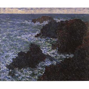 Les Roches de Belle-lle, Claude Monet, 60x50cm