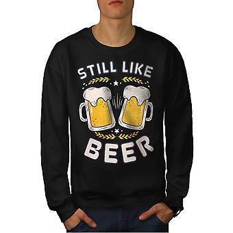 Like beer funy Men BlackSweatshirt | Wellcoda