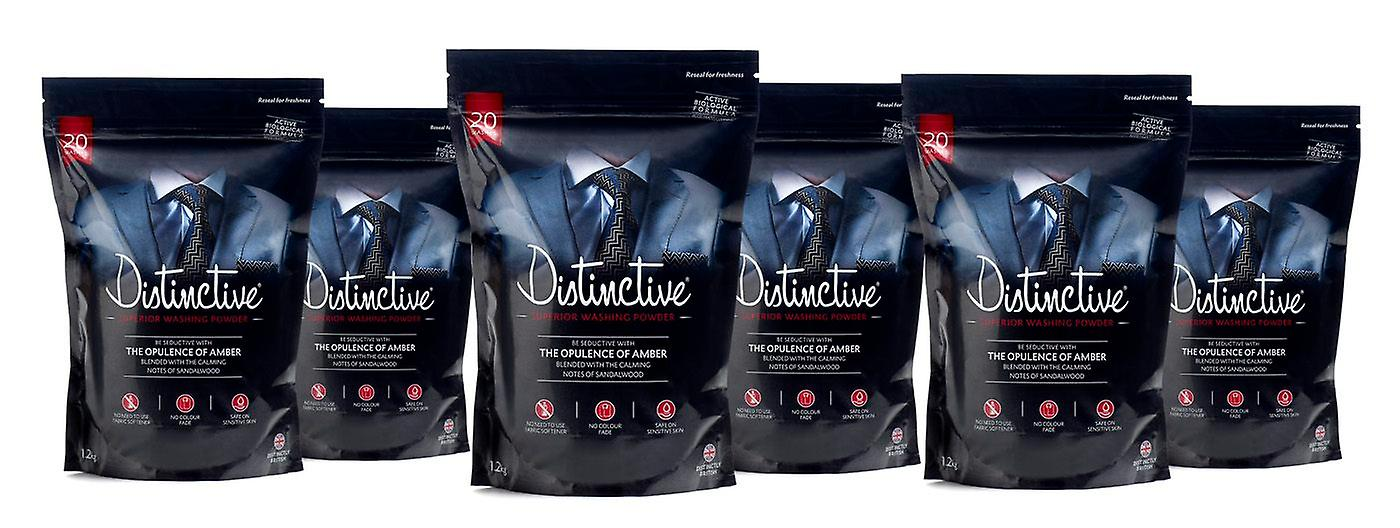Distinctive Washing Powder (case of 6) plus matching Fragrance spray - Masculine Fragrance