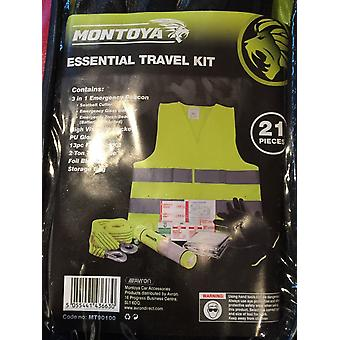 Montoya Essential Travel Kit 21 Pieces New In Zipped Carrying Case