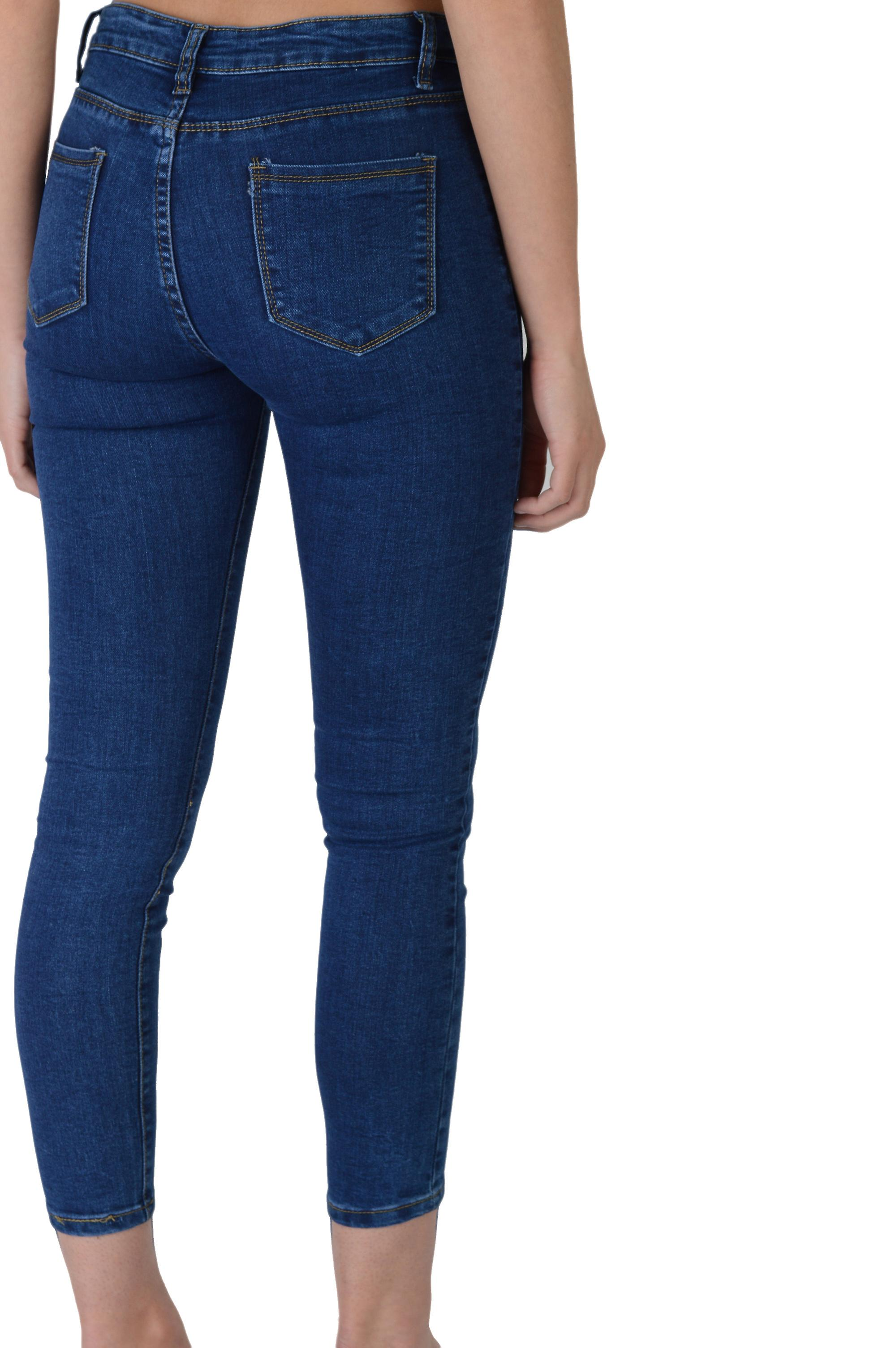 Lovemystyle High Waisted Blue Super Skinny Jeans - SAMPLE
