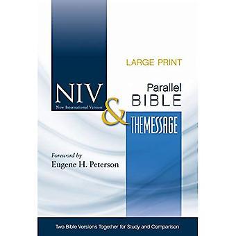 Bible-PR-NIV/MS-gros caractères By-Side: Deux Versions de la Bible ensemble pour l'étude et la comparaison