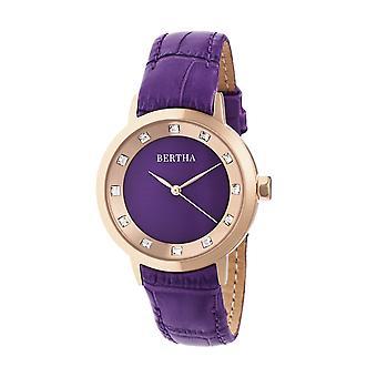Bertha Cecilia banda de cuero reloj - púrpura