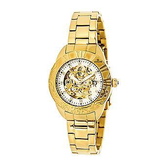 Empress Godiva Automatic MOP Bracelet Watch - Gold/White