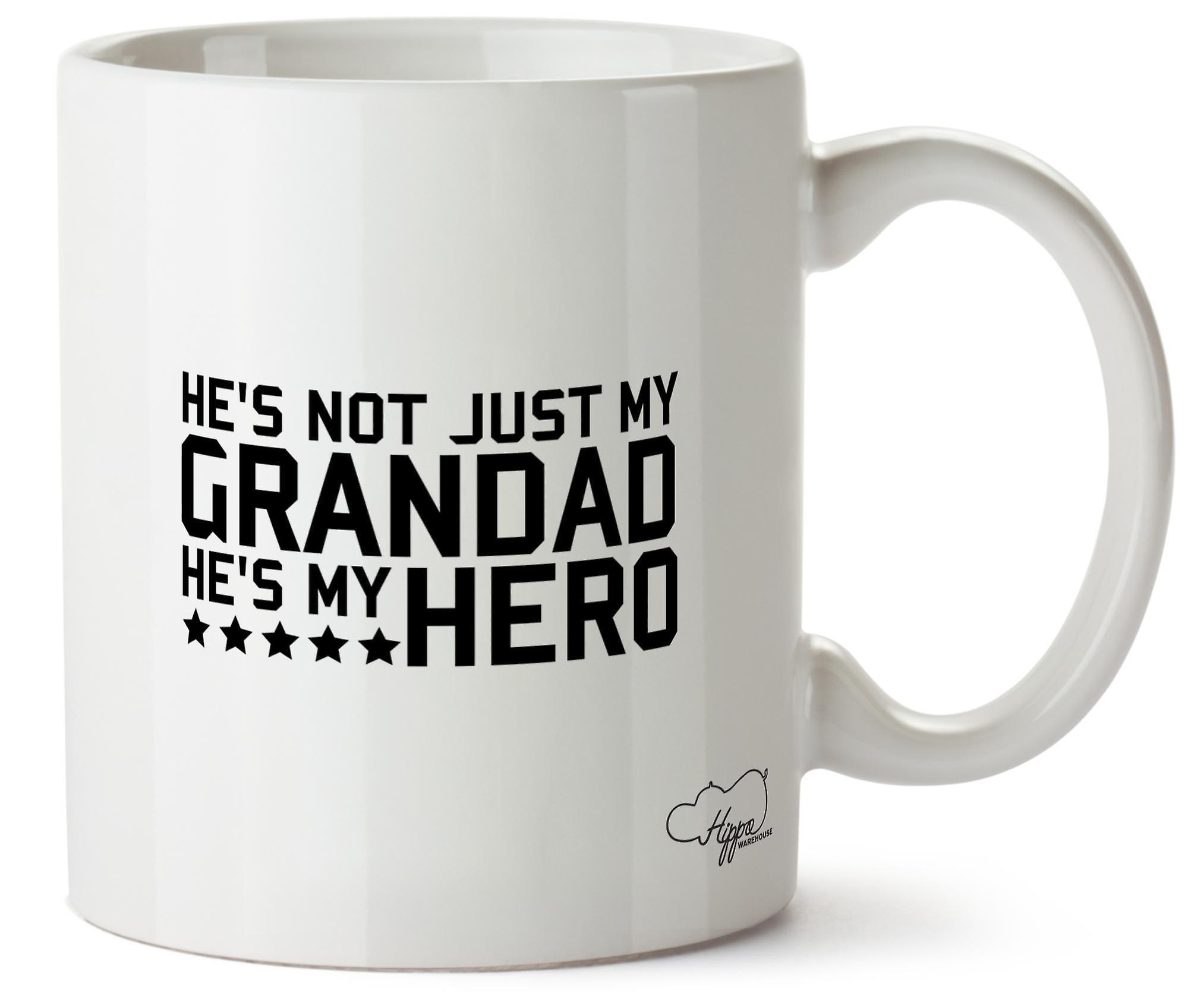 Hippowarehouse, он является не просто мой дедушка, он-мой герой напечатаны Кубка керамическая кружка 10oz