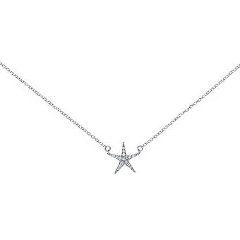 Bella Cubic Zirconia Star Necklace - Silver