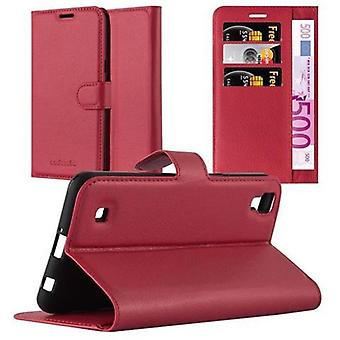 Futerał Cadorabo do obudowy LG X Power case case - etui na telefon komórkowy z magnetycznym zapięciem, funkcją stojaka i komorą na kartę - Obudowa ochronna Case Case Book Folding Style