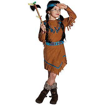 Indiase kinderen kostuum meisjes Squaw van wilde westen
