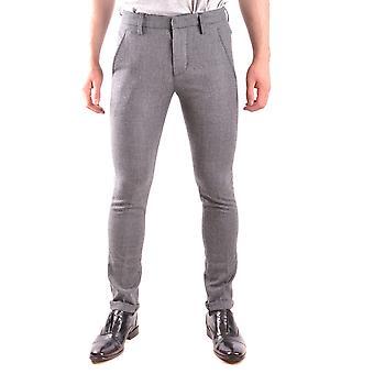 Dondup Ezbc051111 Men's Grey Wool Pants