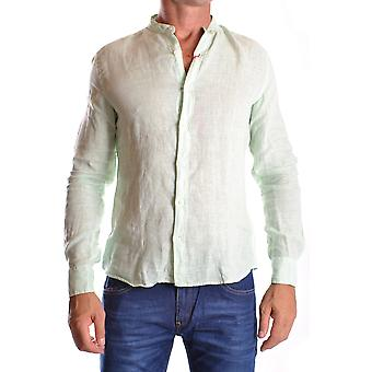 Altea Ezbc048018 Men's Light Blu/green Cotton Shirt