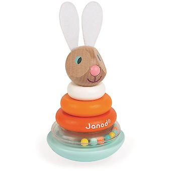 Janod Lapin stapelbar Roly-Poly-Kaninchen