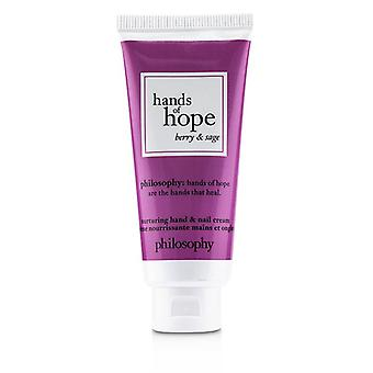 Hands Of Hope Nurturing Hand & Nail Cream - Berry & Sage - 30ml/1oz