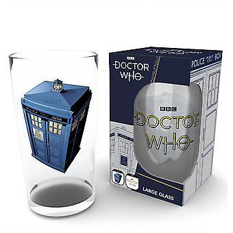 Doctor Who Tardis Large Glass