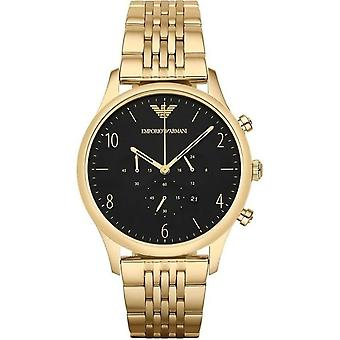 Armani Ar1893 Mens Beta Gold Plated Link Bracelet Watch