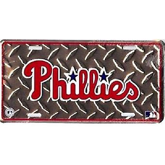 Philadelphia Phillies MLB Diamond Plate rekisteri kilpi