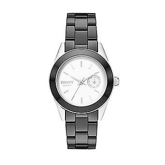 DKNY Jitney Ladies Black Ceramic Watch NY2143