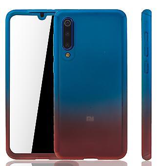Xiaomi Mi 9 SE Cas de téléphone De protection Cas Full Cover Tank Protection Glass / Rouge