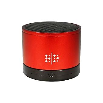 Technocel Universal Mini Bluetooth Speaker with Mic and Charging/Aux Cable - Red