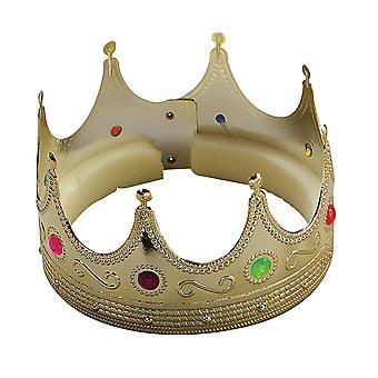 Bristol Novelty Unisex Shiny Faux Gem Crown (Pack Of 2)