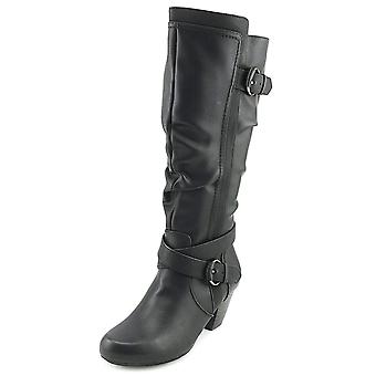 Rialto Womens Crystal Closed Toe Knee High Fashion Boots