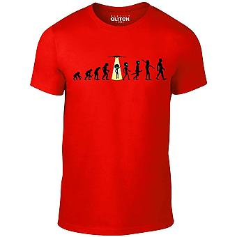 Men's evolution - alien abduction t-shirt