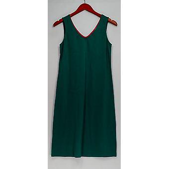 Isaac Mizrahi Live! Kjole (XXS) ermeløs strikk turkis grønn A266051