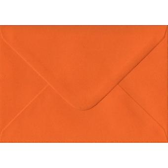 Orange Gummed Greeting Card Coloured Orange Envelopes. 100gsm FSC Sustainable Paper. 125mm x 175mm. Banker Style Envelope.