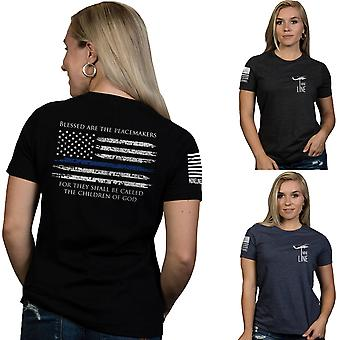 Nine Line Apparel Women's Thin Blue Line Relaxed Fit Short Sleeve T-Shirt