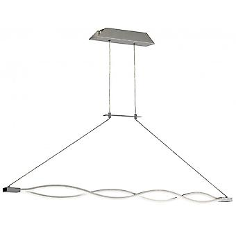 Mantra Sahara XL Pendant 42W LED 3000K, 3400lm, Dimmable Silver/Frosted Acrylic/Polished Chrome, 3yrs Warranty