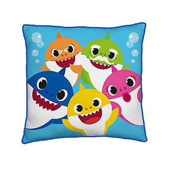 Baby Shark Familie Quadrat Kissen